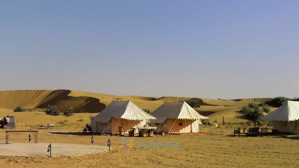 Camping in Arabian Desert